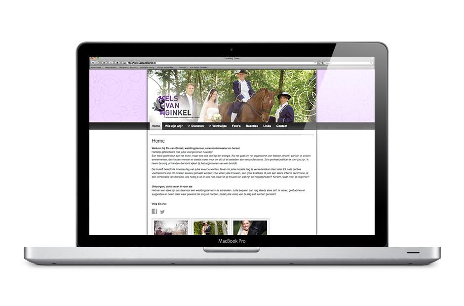 website Els van Ginkel screenshot 1